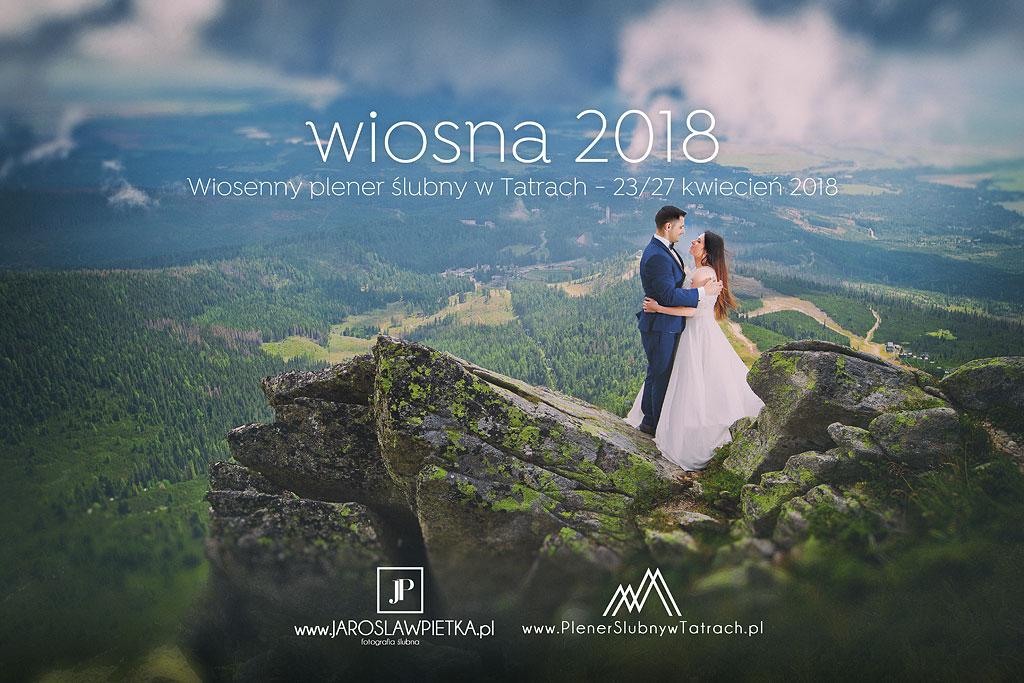Wiosenny plener ślubny w Tatrach